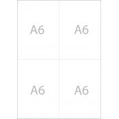 Feuiles A4 vierges prédécoupées format A6