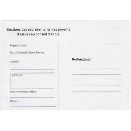 Enveloppes Retour C6 Elections de Représentants des Parents d'élèves