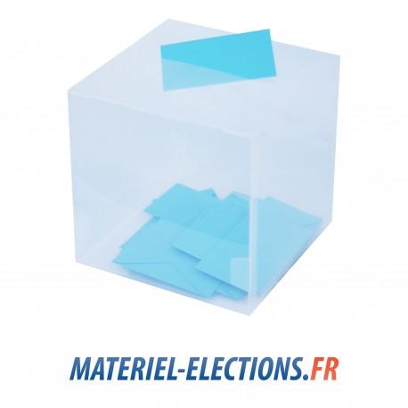 Urne de vote 400 vote transparente