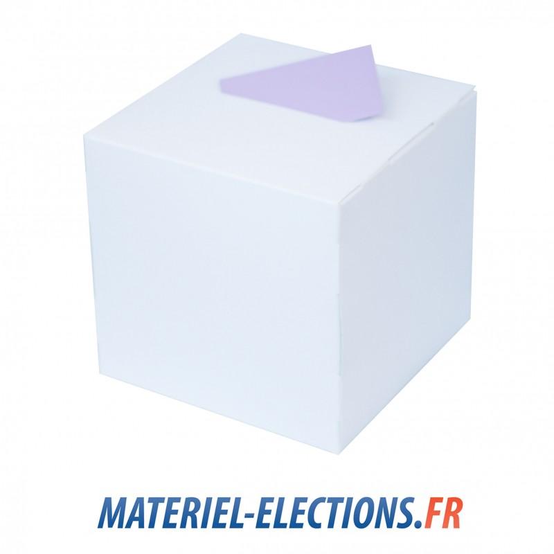 urne en carton blanc laqu de vote rigide pour lections. Black Bedroom Furniture Sets. Home Design Ideas