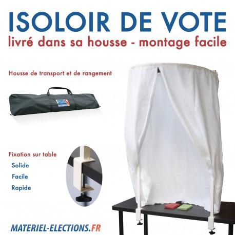 Isoloir de vote pour lection professionnelle associative - Remuneration bureau de vote ...