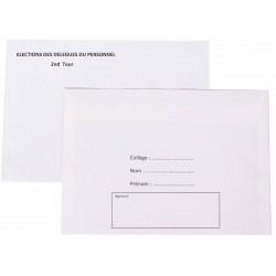 Enveloppe C6 de vote personnalisée - retour du domicile du salarié
