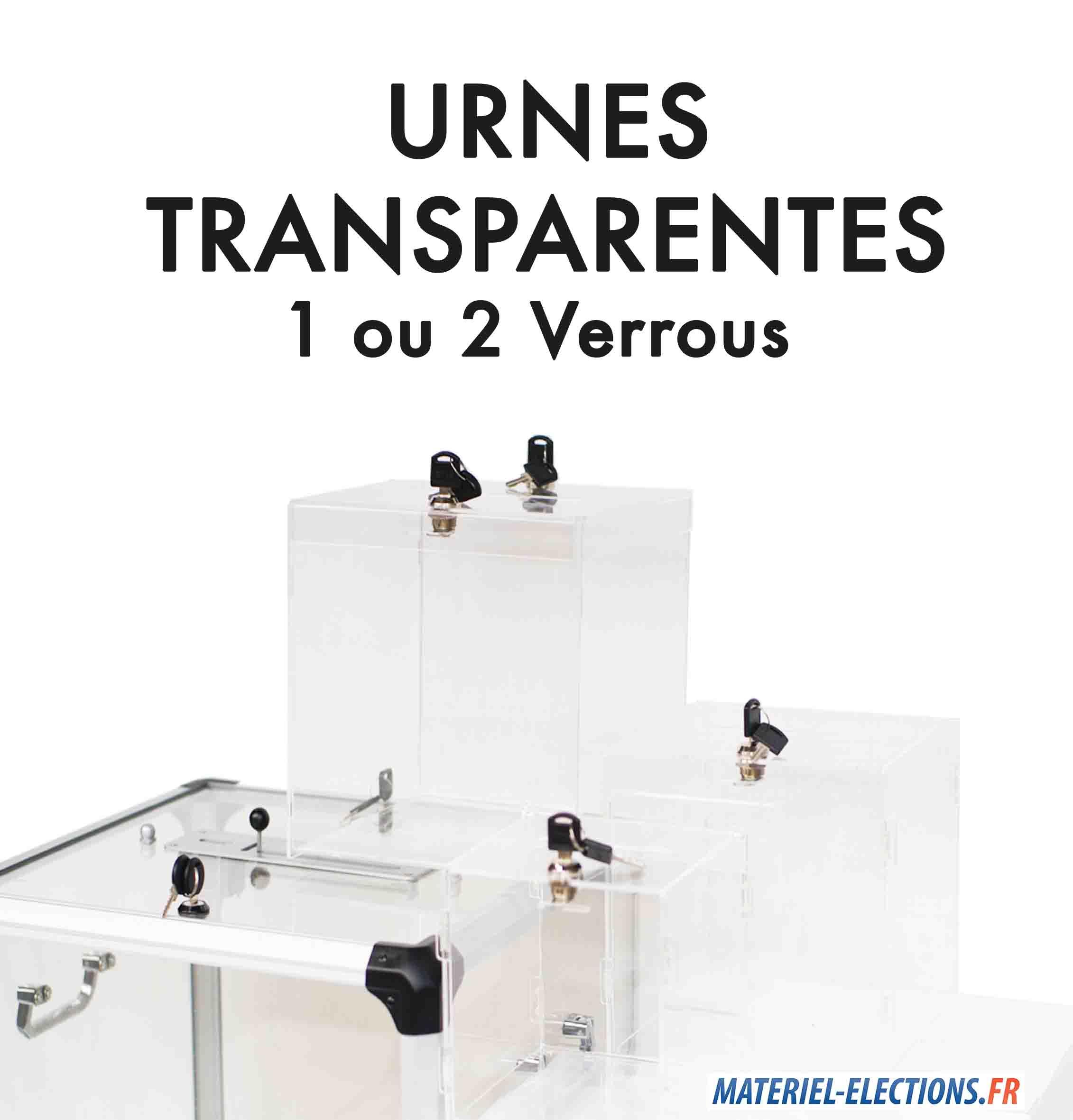 Urne de vote transparentes en plexiglas avec verrous materiel elections fr - Assesseur titulaire bureau de vote ...