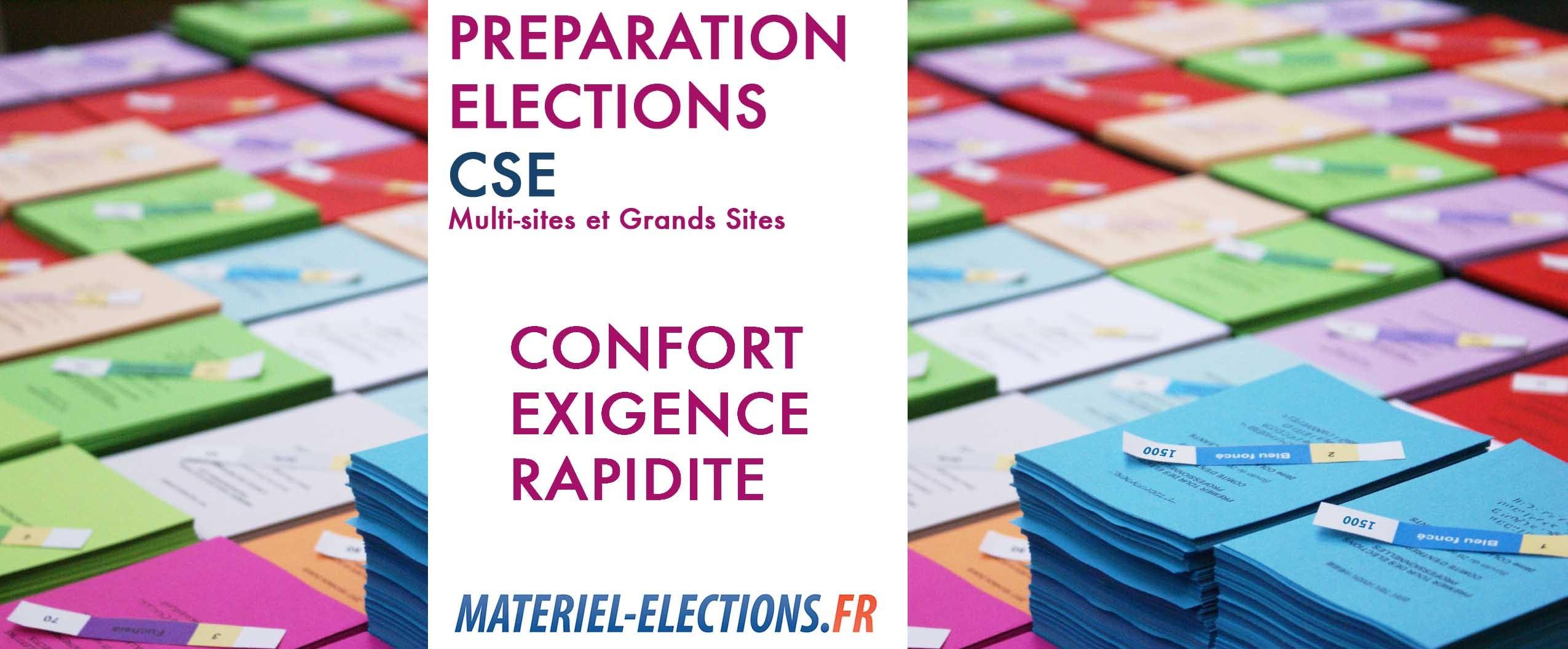préparation des élections